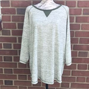 Woman Within Soft Green 1X (22/24) Tunic Top